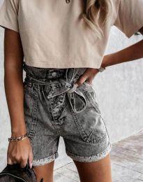 Kratke hlače - koda 4525 - 1 - siva