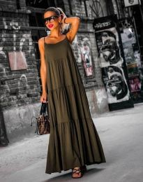 Obleka - koda 2301 - 3 - olivno zelena