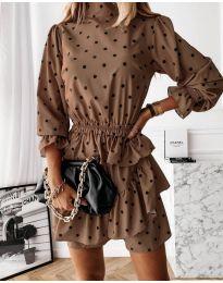 Obleka - koda 3665 - rjava