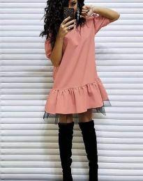 Obleka - koda 2856 - breskev