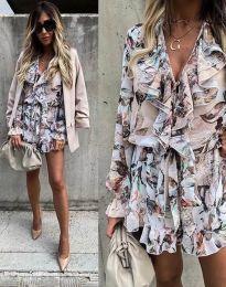 Obleka - koda 2728 - večbarvna
