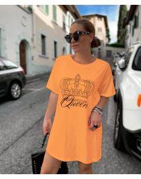 Obleka - koda 2525 - oranžna