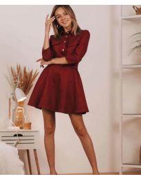 Obleka - koda 6619 - bordo