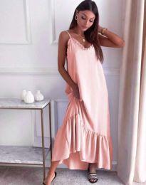 Obleka - koda 4671 - svetlo roza