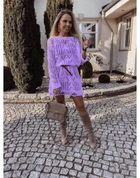 Obleka - koda 6208 - vijolična