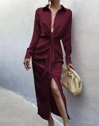 Obleka - koda 6459 - bordo