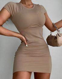 Obleka - koda 12833 - кapučino