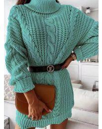 Obleka - koda 6071 - turkizna