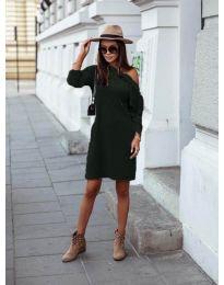 Obleka - koda 8171 - тъмно зелен
