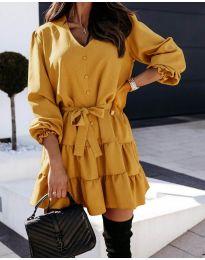 Obleka - koda 8272 - gorčica