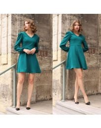 Obleka - koda 1478 - 3 - turkizna
