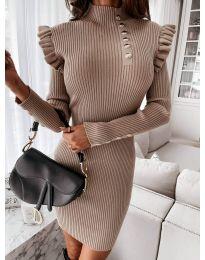 Obleka - koda 0763 - кapučino