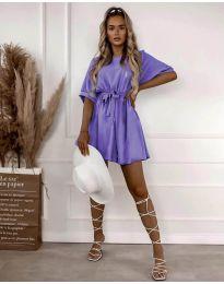 Obleka - koda 13131 - vijolična