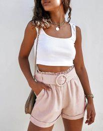 Kratke hlače - koda 8164 - svetlo roza
