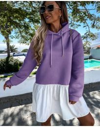 Obleka - koda 6947 - vijolična