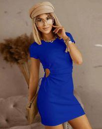 Obleka - koda 8556 - temno modra