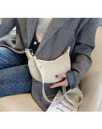 Дамска чанта в бяло тип банан - код B156