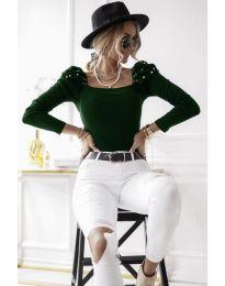 Bluza - koda 15766 - 3 - тъмно зелен