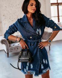 Obleka - koda 2888 - 2 - temno modra