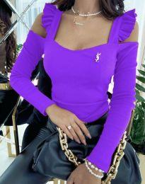 Bluza - koda 2380 - 7 - vijolična
