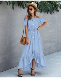 Obleka - koda 564 - svetlo modra