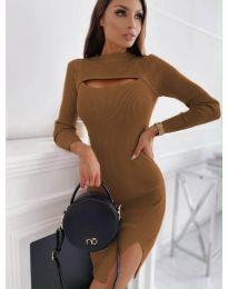 Obleka - koda 4528 - rjava