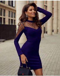 Obleka - koda 2484 - temno modra
