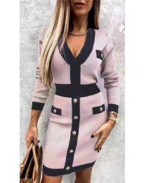 Obleka - koda 7574 - roza