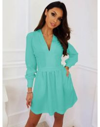 Obleka - koda 089 - turkizna