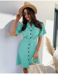 Obleka - koda 742 - turkizna