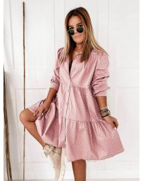 Obleka - koda 5557 - roza