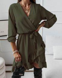 Obleka - koda 5371 - olivno zelena