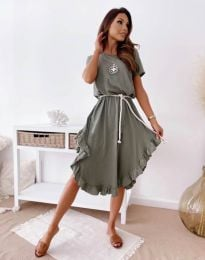 Obleka - koda 11893 - olivno zelena