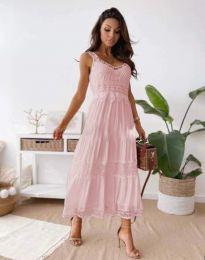 Obleka - koda 4672 - svetlo roza
