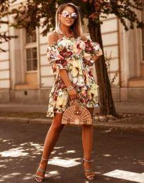 Obleka - koda 1402 - 2 - cvetni