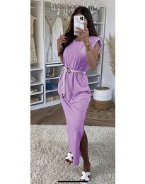 Obleka - koda 7049 - svetlo vijolična