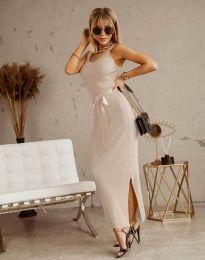 Obleka - koda 6166 - barva šampanjca