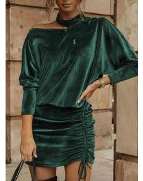 Obleka - koda 8987 - olivna