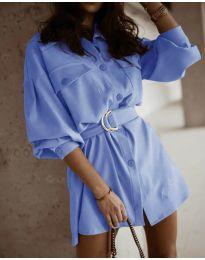 Obleka - koda 6461 svetlo modra
