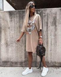 Obleka - koda 11864 - bež