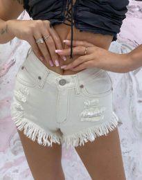 Kratke hlače - koda 4548 - 3 - bela