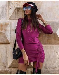 Obleka - koda 9545 - vijolična