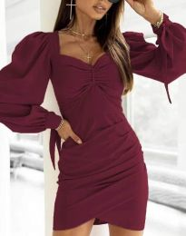Obleka - koda 0363 - bordo