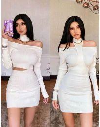 Obleka - koda 3982 - bela