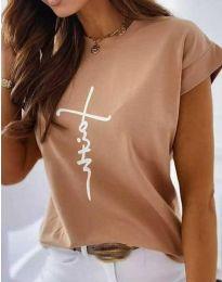 Majica - koda 11826 - 5 - кapučino