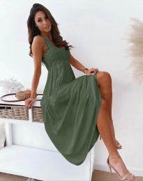 Obleka - koda 4807 - olivno zelena