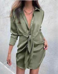 Obleka - koda 5866 - olivna