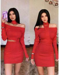 Obleka - koda 3982 - rdeča