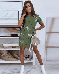 Obleka - koda 2906 - olivno zelena