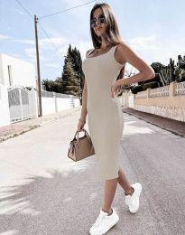Obleka - koda 5964 - barva šampanjca